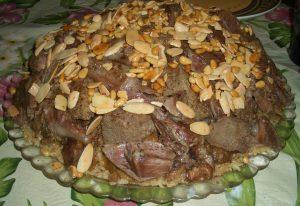 مقلوبة لحم الغنم المخبوزة بالفرن