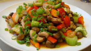 الدجاج الصيني بالخضروات