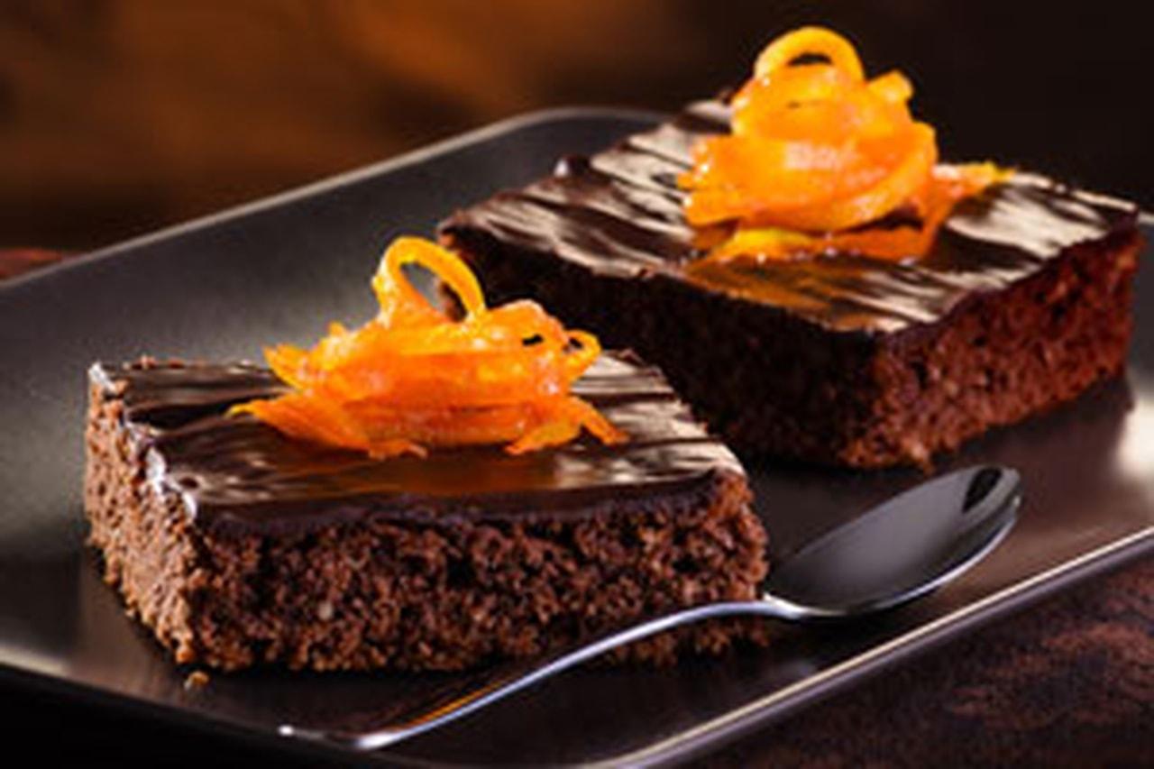 كيك الشوكولا بالبرتقال
