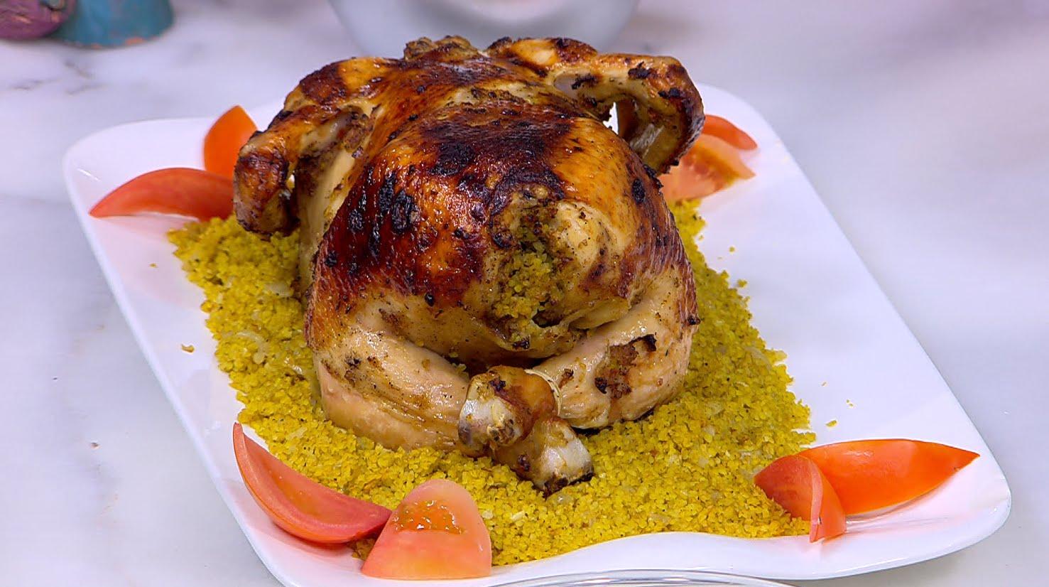 دجاج محشي بالبرغل