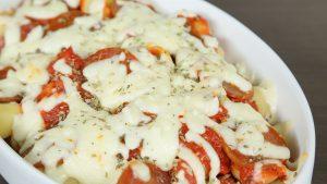 معكرونة البيتزا بجبن الغودا
