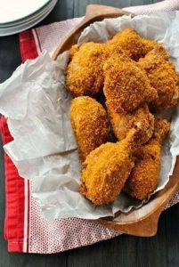 دجاج مقرمش في الفرن