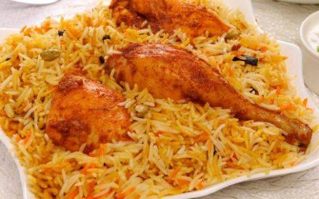 الأرز البخاري بالدجاج