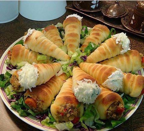 الأقماع بعدة حشوات طريقة تحضير وصفة الأقماع بعدة حشوات طبخ عربي كوك