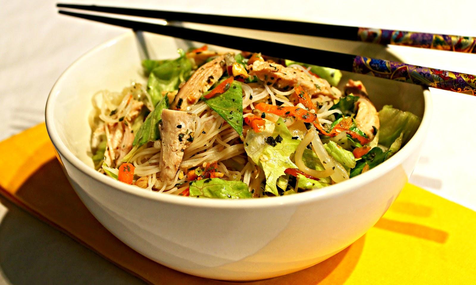 سلطة اللحم على الطريقة الآسيوية