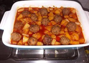 كفتة داوود باشا مع البطاطس