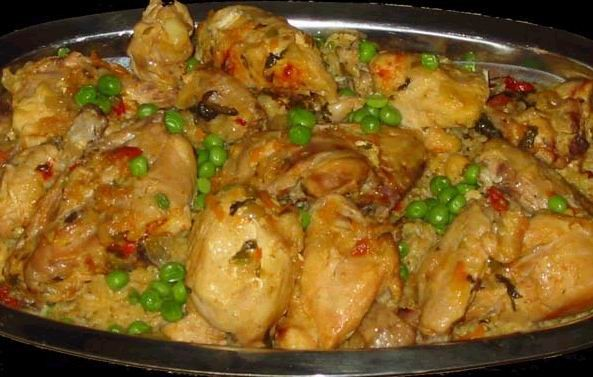 البايلا بالدجاج