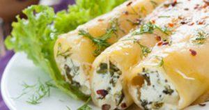 الكانيلوني بالدجاج واليقطين والجبن