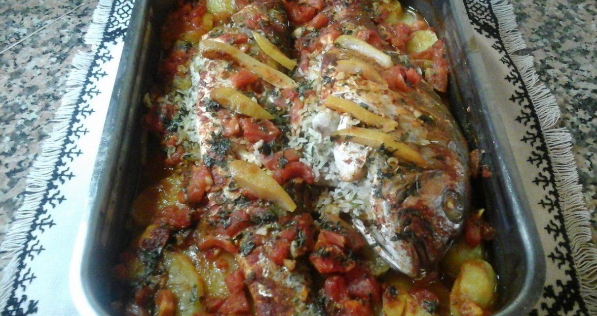 السمك المغربي بالفرن