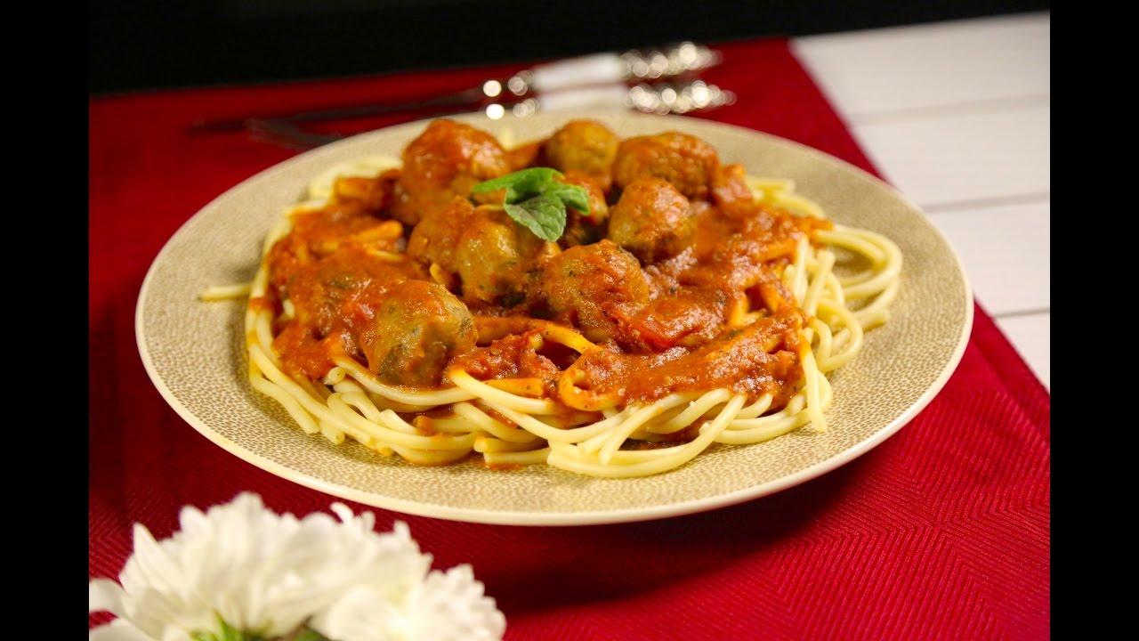 معكرونة بكرات اللحم الإيطالية