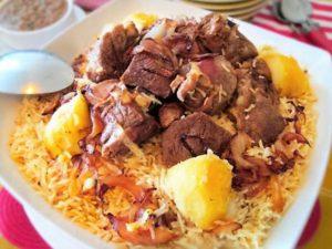 الأرز باللحم على الطريقة السعودية
