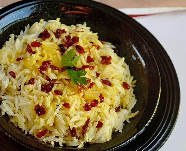 الأرز الإيراني بالرمان