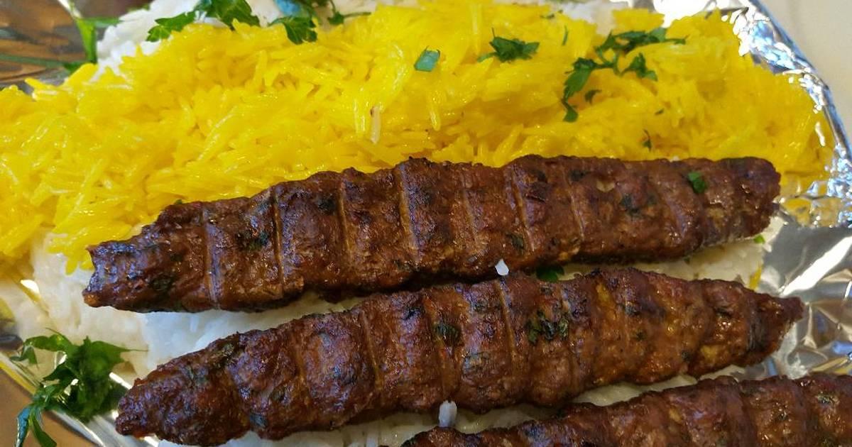 الكباب الإيراني مع الأرز