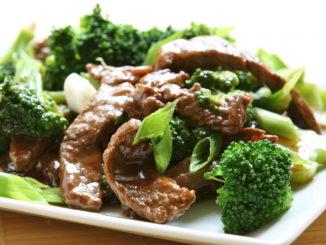 لحم صيني بالبروكلي