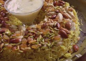 الأرز بالدجاج واللحم المفروم
