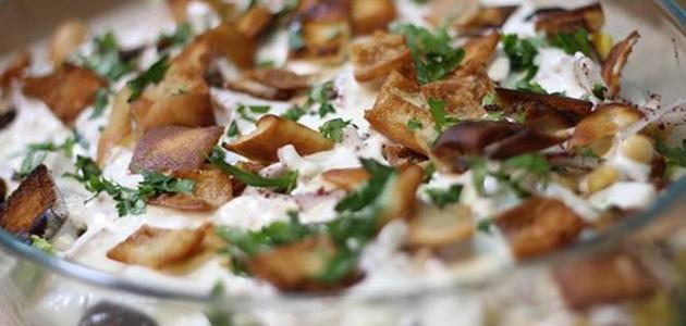 فتة الباذنجان والبطاطس