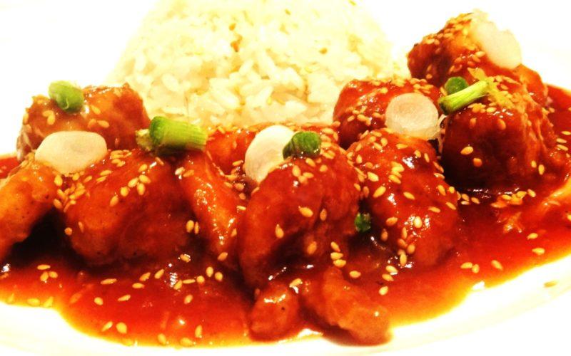 دجاج صيني بالسمسم