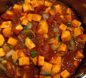يخنة الكوسا مع الطماطم