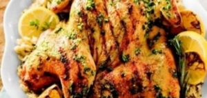 صدر الدجاج بالزعتر