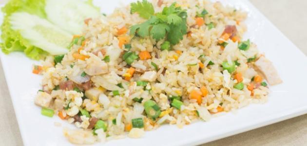 الأرز الصيني بالبيض والخضار