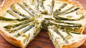 تارت الجبن والهليون