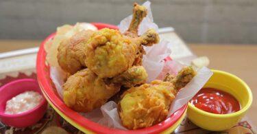أفخاذ الدجاج المقلية