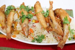 ليدي فيش مع الأرز