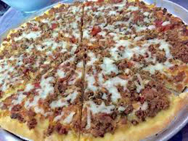بيتزا باللحمة المفرومة