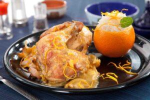 الدجاج بالكمون والبرتقال