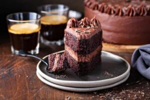 كيكة الشوكولا بالقهوة