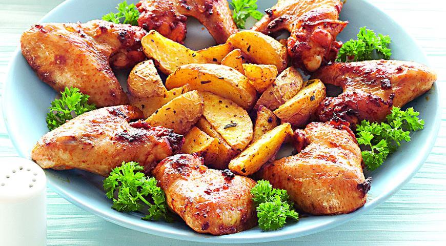 دجاج بصلصة دبس الرمان